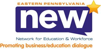 "Precision Design's logo for EP NEW combines modern, sans-serif fonts with cutting edge Web 2.0 elements such as the star, indicating ""new,"" and the dialogue box indicating interaction."